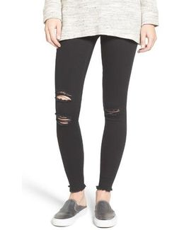 Ripped Denim Leggings