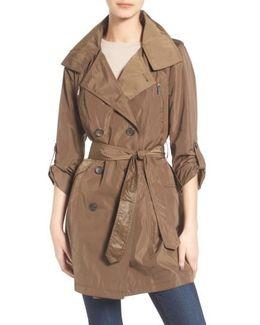 Drape Back Trench Coat