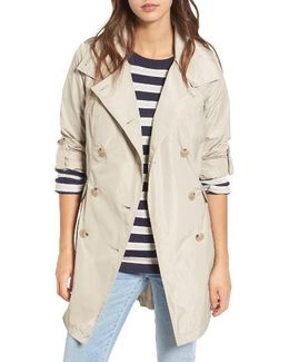 Drape Back Trench Coat
