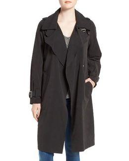 Drape Front Trench Coat