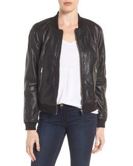 Darryl Leather Bomber Jacket