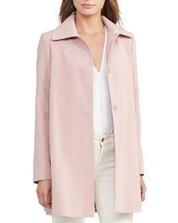 A-line Crepe Coat