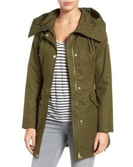 Lace-up Hooded Utility Coat