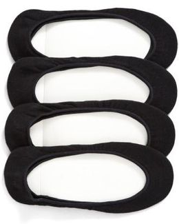 4-pack Liner Socks, Black