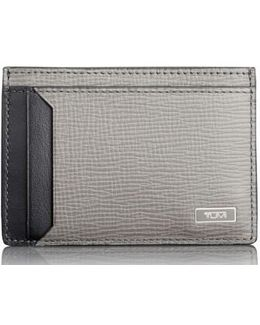 Monaco Leather Rfid Money Clip Card Case