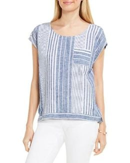 Linen Stripe Top