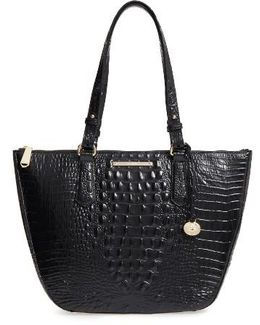 Willa Croc Embossed Leather Tote