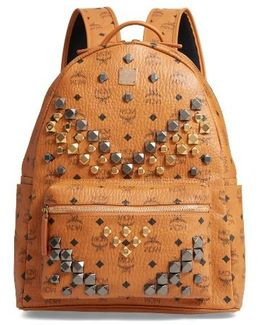 Medium Stark - Visetos Studded Logo Backpack