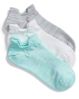 3-pack Double Tab Ankle Socks, Blue