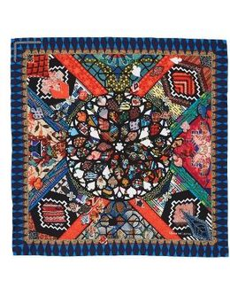 Black Love Square Silk Scarf