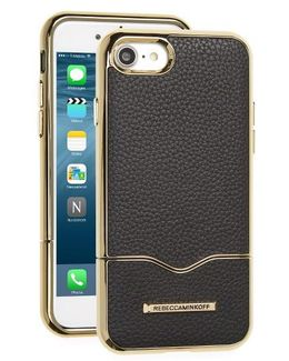 Leather Iphone 7 Slider Case