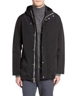 Packable Hooded Rain Jacket, Black