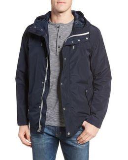 Packable Hooded Rain Jacket, Blue