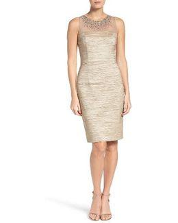 Metallic Sheath Dress