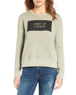 Army Of Lovers Side Zip Sweatshirt