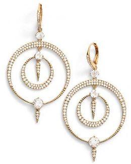 Gwen Crystal Hoop Drop Earrings