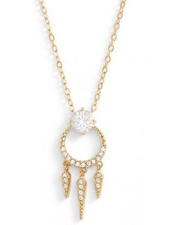 Gwen Crystal Pendant Necklace