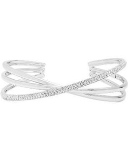 Trinity Pave Crossover Cuff