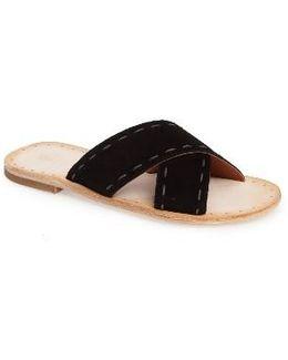 Avery Pickstitch Slide Sandal