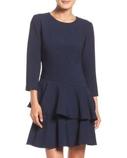 Tiered Ruffle Knit Dress
