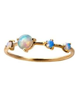 Counting Collection Large Four Step Opal Ring