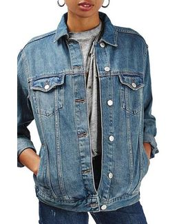Moto Western Denim Jacket