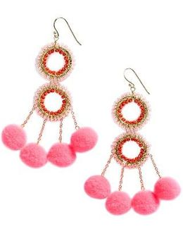 Pompom Statement Earrings