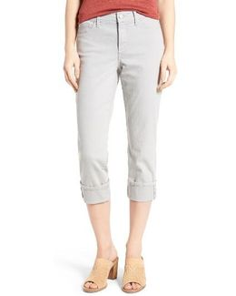 Dayla Colored Wide Cuff Capri Jeans