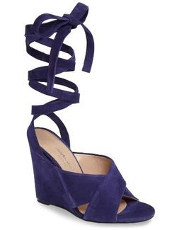 Charles David Quest Wraparound Lace Sandal