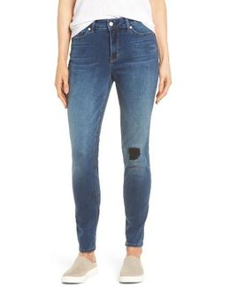 Ami Distressed Stretch Skinny Jeans
