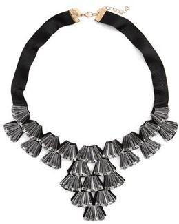 Crystal Fan Collar Necklace