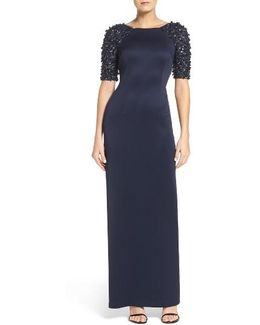 Embellished Sleeve Gown