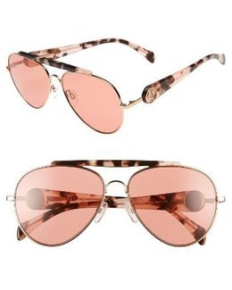 Gigi 58mm Aviator Sunglasses
