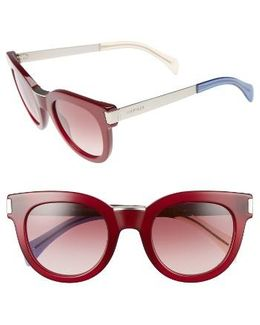 49mm Butterfly Sunglasses - Burgundy/ Palladium