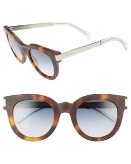 49mm Butterfly Sunglasses - Havana/ Gold