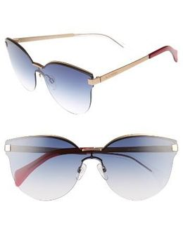99mm Rimless Cat Eye Sunglasses