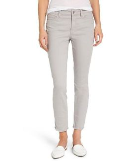 Alina Frayed Stretch Twill Ankle Pants