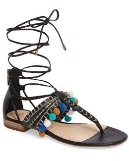 Balisa Embellished Lace-up Sandal