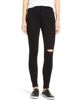 Ami Slash Knee Stretch Skinny Jeans