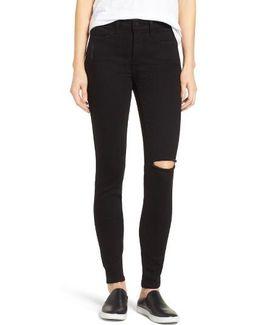 Ami Slash Knee Stretch Skinny Jeans
