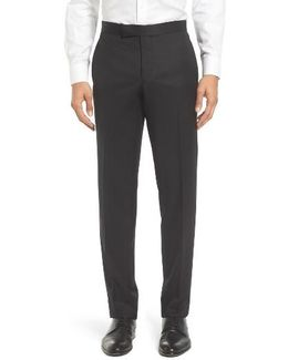 Josh Flat Front Wool & Mohair Formal Trousers