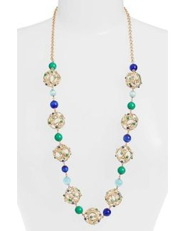 Brilliant Bauble Station Necklace