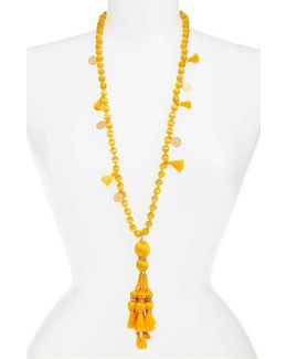 Pretty Poms Tassel Necklace