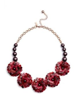Rosy Outlook Statement Necklace