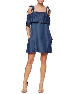 Sigrid Chambray Tie Shoulder Dress