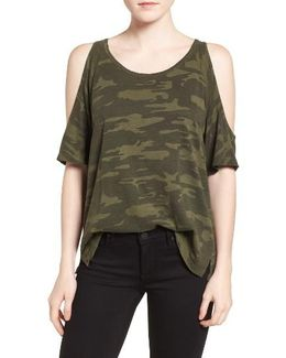 Lou Camo Cold Shoulder Tee