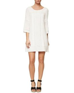 Clemence Crochet Trim Shift Dress