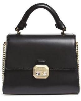 Leather Top Handle Satchel