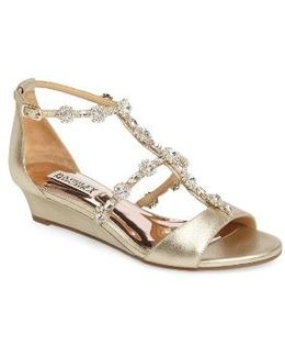Terry Ii Crystal Embellished Wedge Sandal