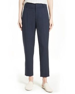 Carrot Tapered Leg Ankle Pants